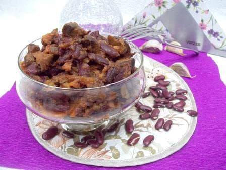Фасоль с грибами для постного стола и любителей бобовых
