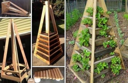 Выращивание клубники в пирамидах