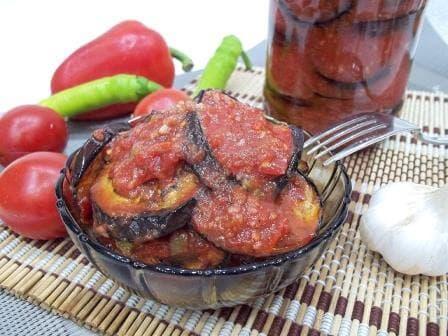 Острая закуска— огонек из баклажан на зиму, пошаговый рецепт