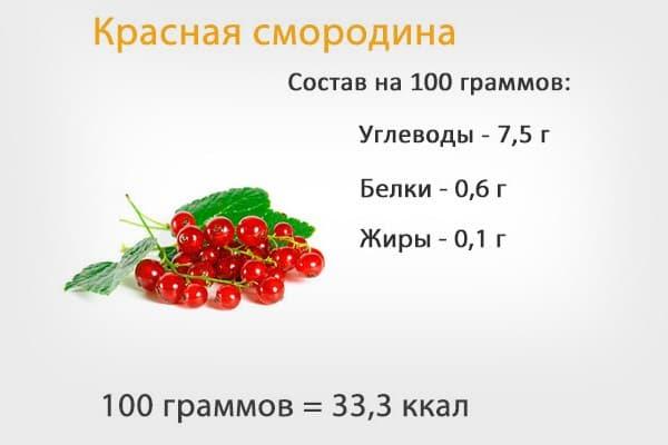 Состав красной смородины