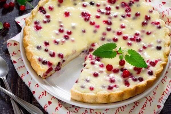 Десерты из клюквы пирог