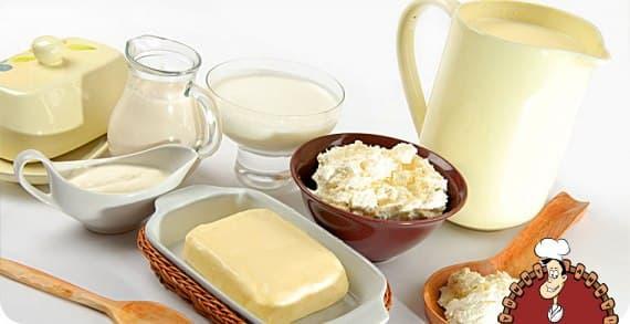 Продукты молочные