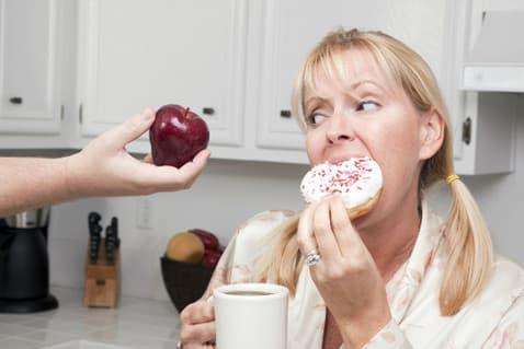 Предлагают съесть яблочко