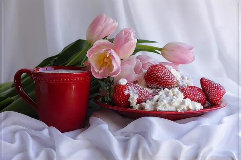 Творог с цветами