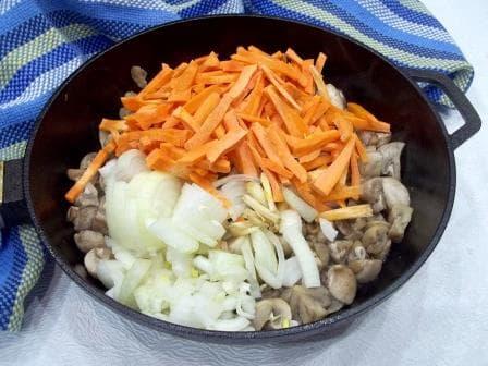 Морковь лук грибы