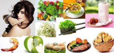 Еда для роста волос