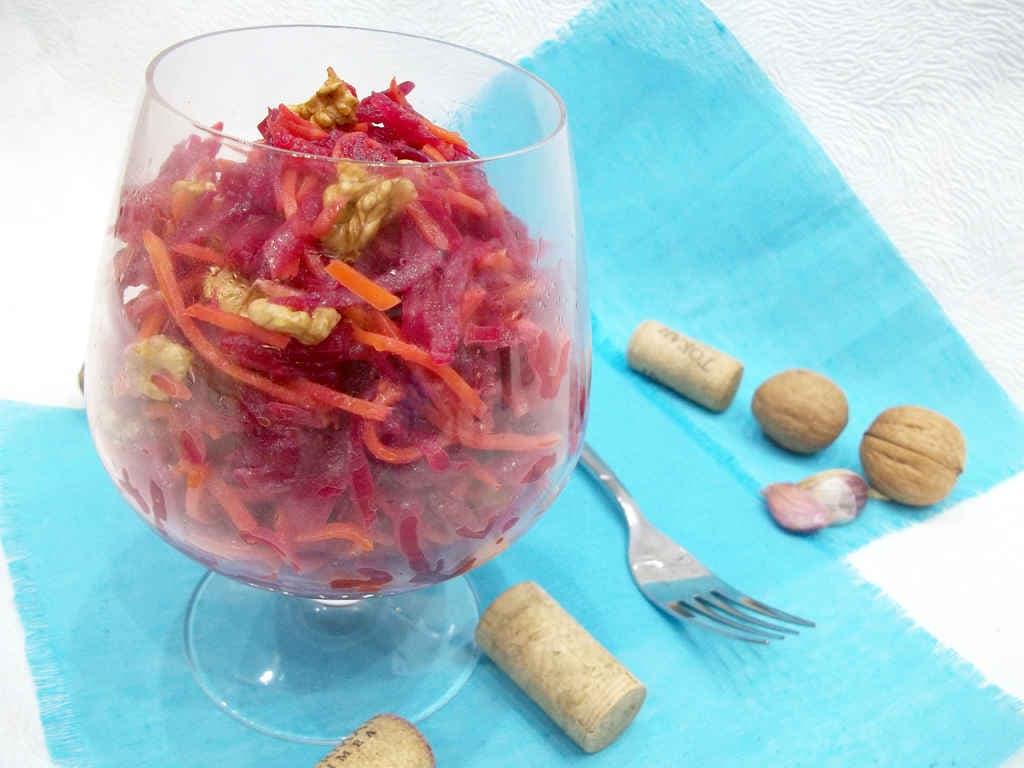рецепты салатов с шампиньонами и орехами с фото