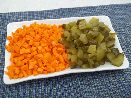 Морковь, огурец