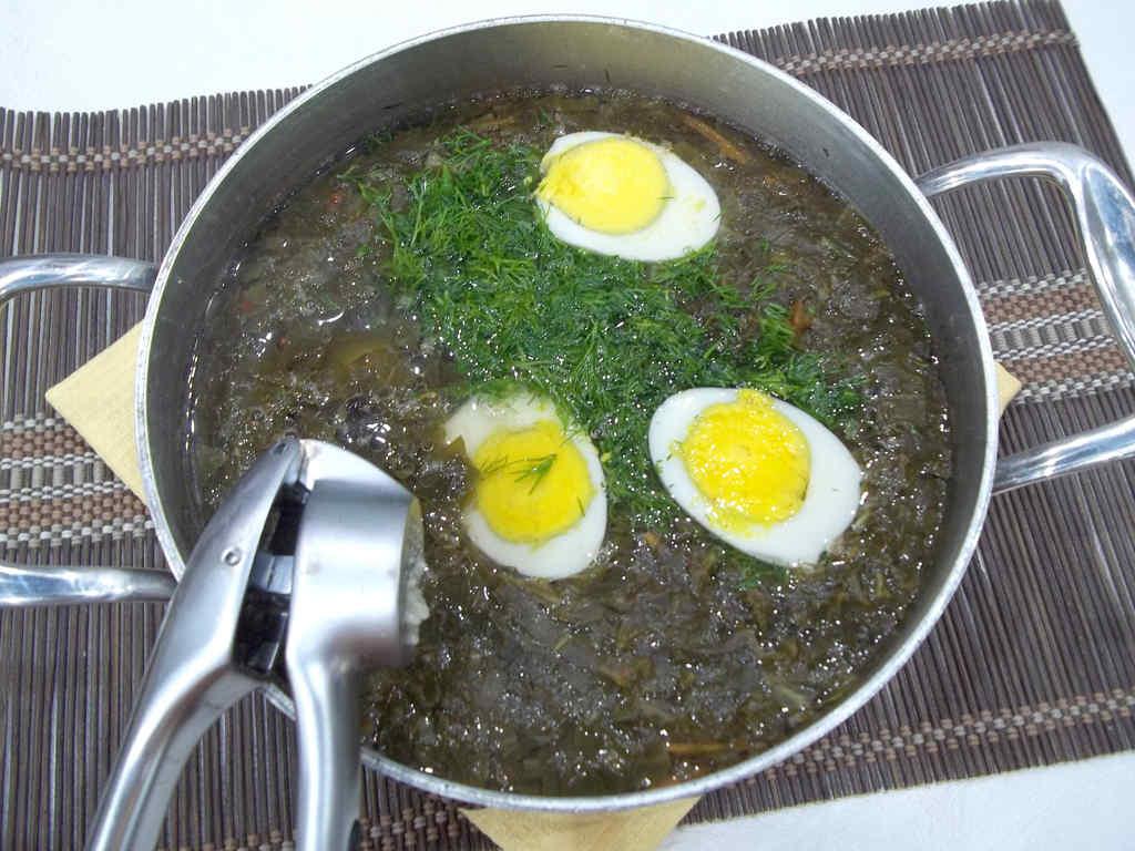Щавелевый суп на ребрышках