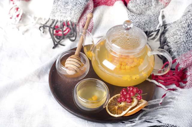 Облепиховый чай с апельсином и мёдом