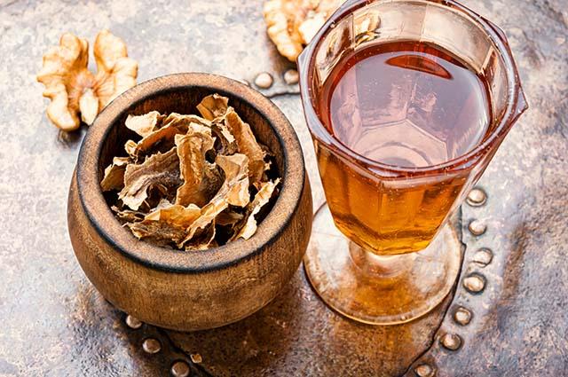 Перегородки грецкого ореха, настойка